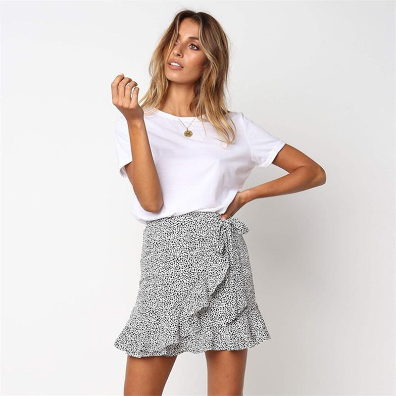 Leopard Mini Skirt Hopikas