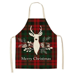 Linen Merry Christmas Apron Christmas Decorations for Home Kitchen Hopikas 1