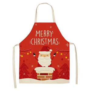 Linen Merry Christmas Apron Christmas Decorations for Home Kitchen Hopikas 11