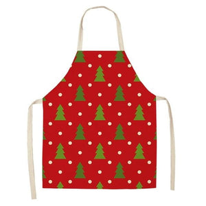 Linen Merry Christmas Apron Christmas Decorations for Home Kitchen Hopikas 12