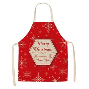 Linen Merry Christmas Apron Christmas Decorations for Home Kitchen Hopikas 16