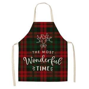 Linen Merry Christmas Apron Christmas Decorations for Home Kitchen Hopikas 19