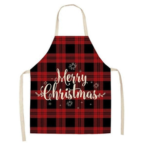 Linen Merry Christmas Apron Christmas Decorations for Home Kitchen Hopikas 21