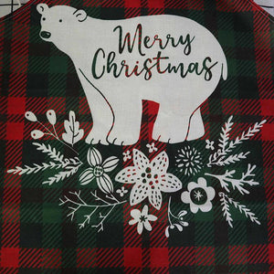 Linen Merry Christmas Apron Christmas Decorations for Home Kitchen Hopikas
