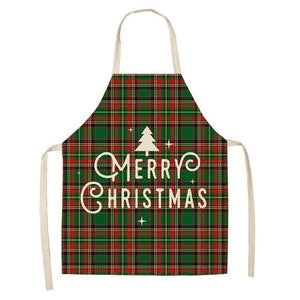 Linen Merry Christmas Apron Christmas Decorations for Home Kitchen Hopikas 5