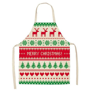 Linen Merry Christmas Apron Christmas Decorations for Home Kitchen Hopikas 7