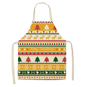 Linen Merry Christmas Apron Christmas Decorations for Home Kitchen Hopikas 8