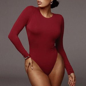 Long Sleeve Bodysuit Hopikas Burgundy L