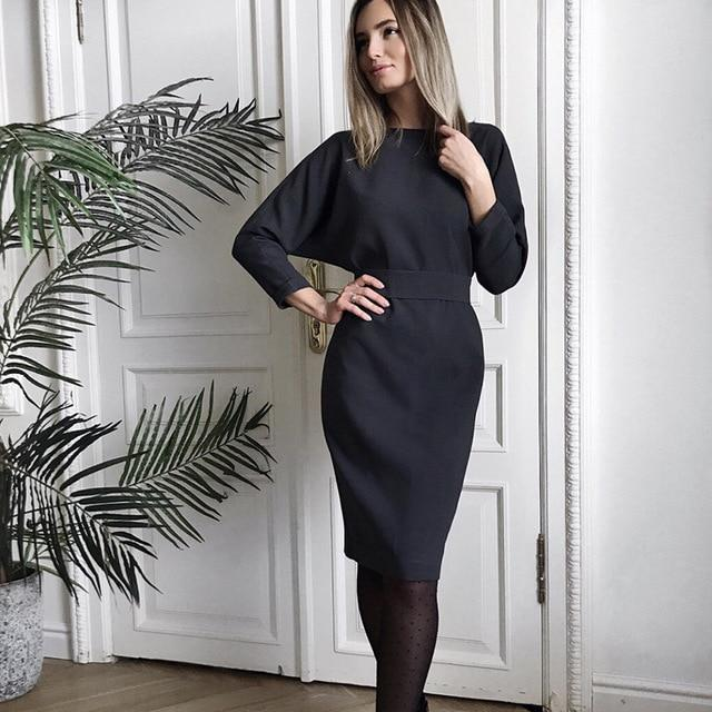 Long Sleeve Dresses Hopikas black S
