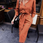 Long Sleeve Dresses Hopikas Orange M