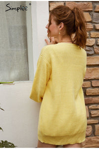 Long Sleeve Knitting Cardigan sweater Hopikas