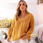Load image into Gallery viewer, Long Sleeve Sweater Hopikas yellow M