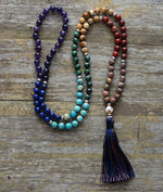 Load image into Gallery viewer, Long Tassel Necklace Hopikas