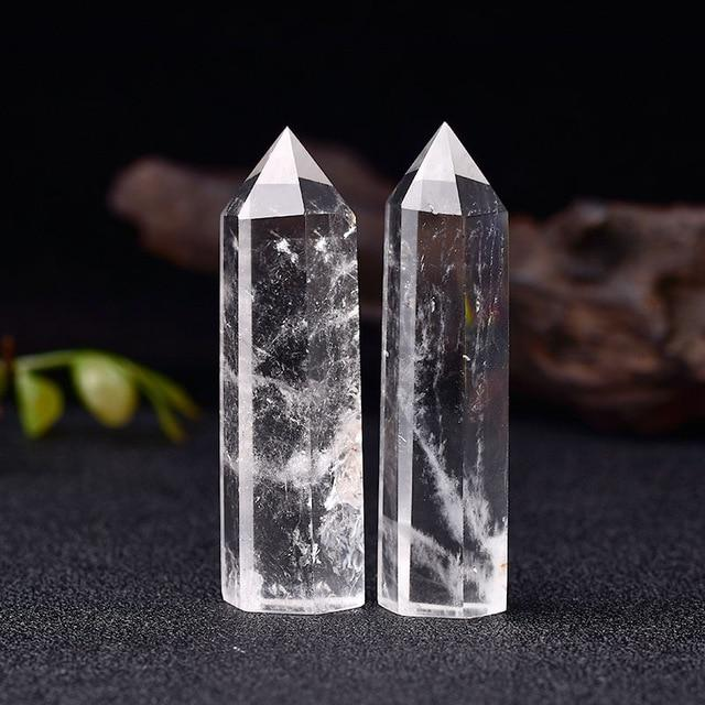 Natural Crystal Energy Mineral Hopikas Clear Quartz 50-60mm