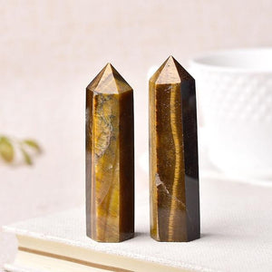 Natural Crystal Energy Mineral Hopikas Tigers Eye 50-60mm