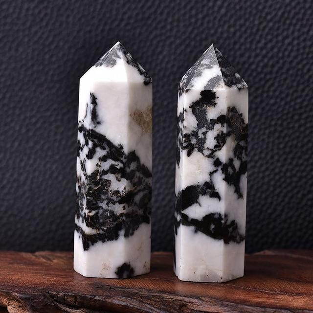 Natural Crystal Energy Mineral Hopikas Zebra Stone 50-60mm