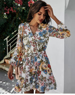 Load image into Gallery viewer, New Print Floral Dress Hopikas