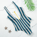 Load image into Gallery viewer, New Sexy Zipper One Piece Swimsuit Hopikas
