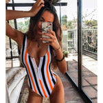 Load image into Gallery viewer, New Sexy Zipper One Piece Swimsuit Hopikas 9 M