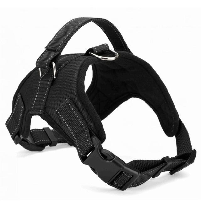 Nylon Heavy Duty Dog Pet Harness Collar Adjustable Padded Hopikas black L