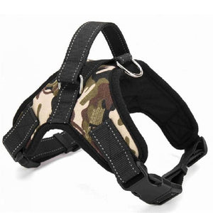 Nylon Heavy Duty Dog Pet Harness Collar Adjustable Padded Hopikas camouflage XL