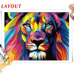 Paints By Numbers Colorful Animals Pictures Hopikas
