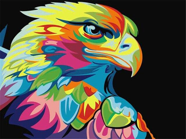 Paints By Numbers Colorful Animals Pictures Hopikas Eagle