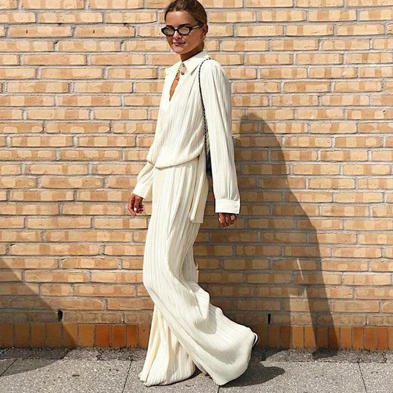Palazzo pants and elegant blouse Hopikas