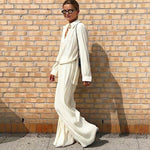 Load image into Gallery viewer, Palazzo pants and elegant blouse Hopikas
