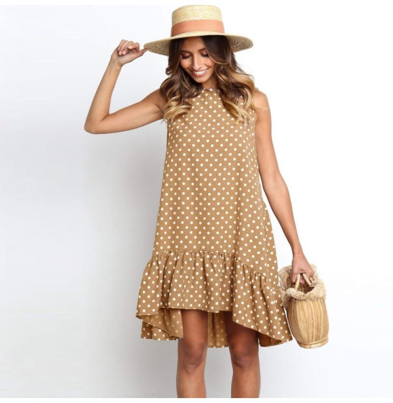 Polka Dot Mini Dress Hopikas