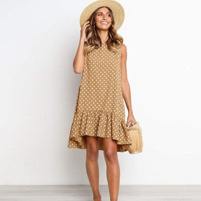 Polka Dot Mini Dress Hopikas Coffe XXXL