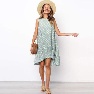 Polka Dot Mini Dress Hopikas Green XXXL