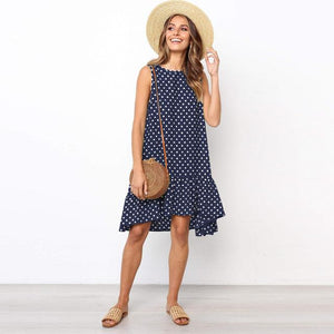 Polka Dot Mini Dress Hopikas Navy L