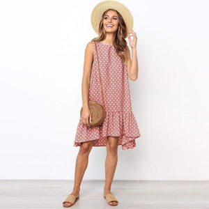 Polka Dot Mini Dress Hopikas Pink L