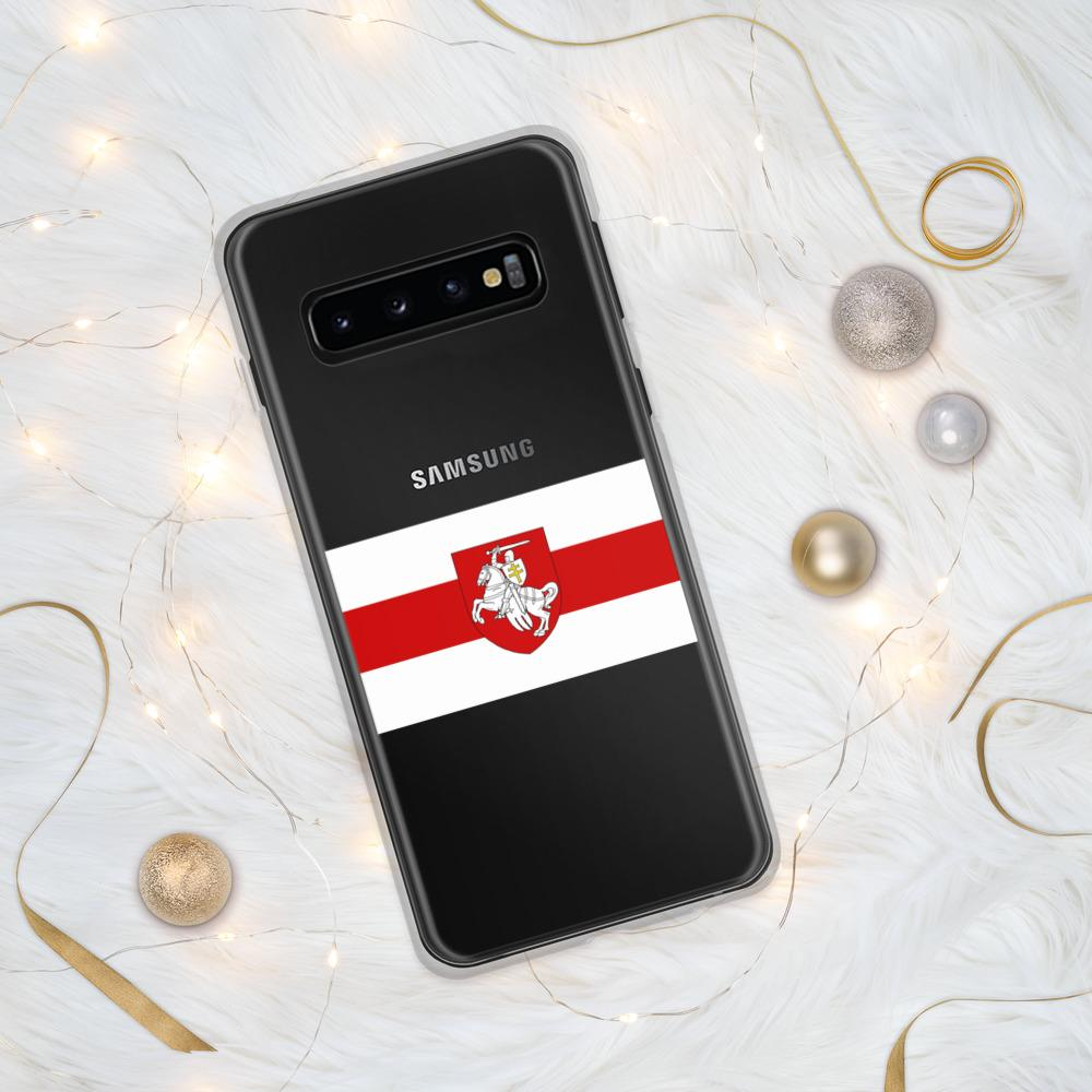 "Samsung Case Flag of Belarus with coat of arms ""Chase"" Hopikas Samsung Galaxy S10"