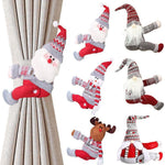 Load image into Gallery viewer, Santa Claus Curtain Decor Merry Christmas Decor for Home Hopikas