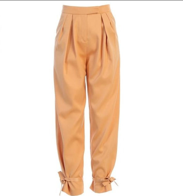Satin Lace Up High Waist Pant Hopikas As Shown 3 S
