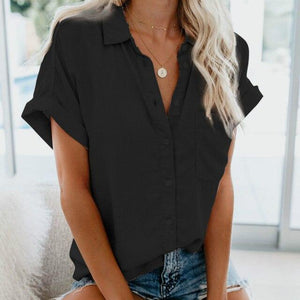 Short Sleeve Blouse Hopikas Black S