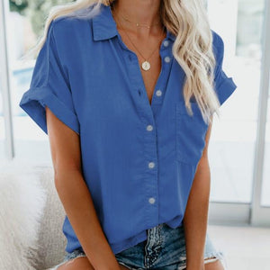 Short Sleeve Blouse Hopikas Blue XXL