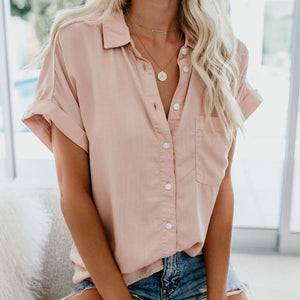 Short Sleeve Blouse Hopikas Pink L