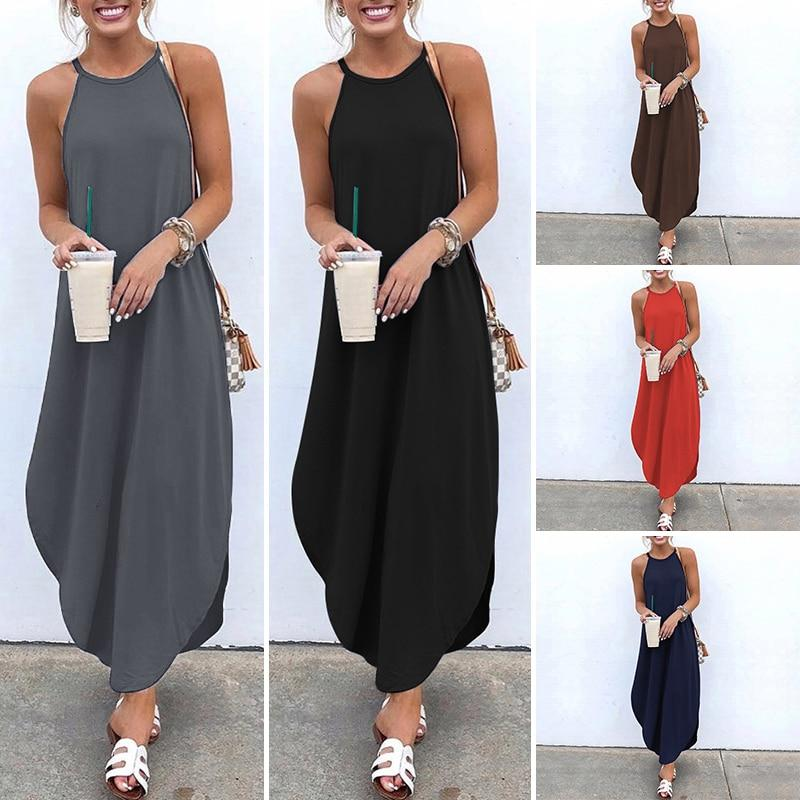 Sleeveless Irregular Dress Hopikas