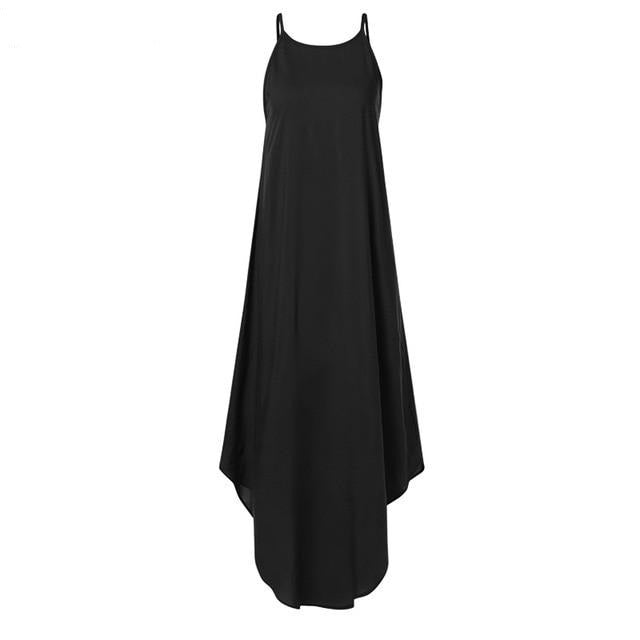 Sleeveless Irregular Dress Hopikas Black S