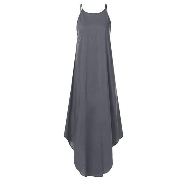 Sleeveless Irregular Dress Hopikas Grey S