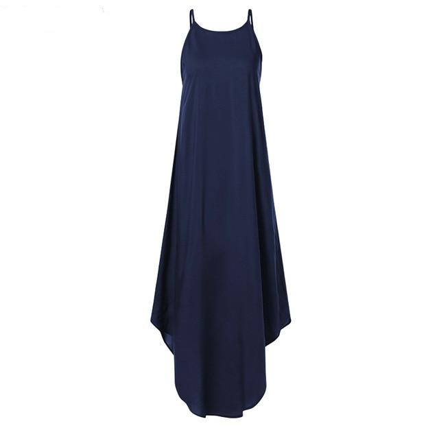 Sleeveless Irregular Dress Hopikas Navy S