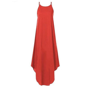 Sleeveless Irregular Dress Hopikas Red S
