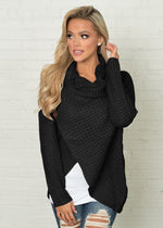 Load image into Gallery viewer, Speckled Cardigan Hopikas Black L