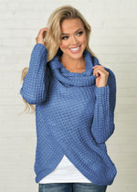 Load image into Gallery viewer, Speckled Cardigan Hopikas Blue L