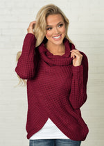 Load image into Gallery viewer, Speckled Cardigan Hopikas Wine red L