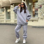 Load image into Gallery viewer, Streetwear Women Joggers & Sweatshirt Hopikas gray st1 United States S