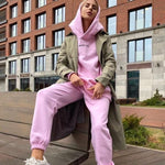 Load image into Gallery viewer, Streetwear Women Joggers & Sweatshirt Hopikas pink st4 United States L